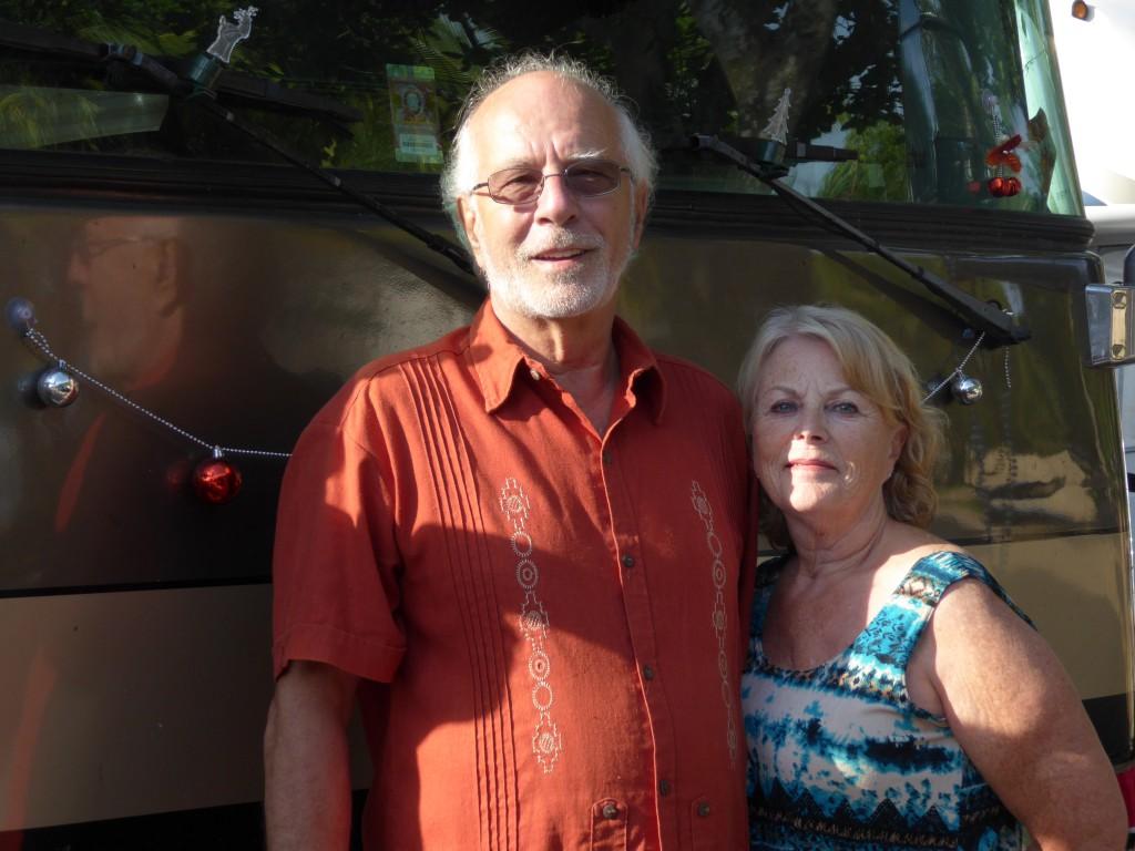 Un couple toujours de bonne humeur, Lise et Serge qui font partie de la caravane depuis 3 ans